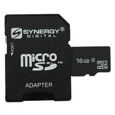 Motorola Defy XT Cell Phone Memory Card 16GB microSDHC Memory Card with SD Adapter
