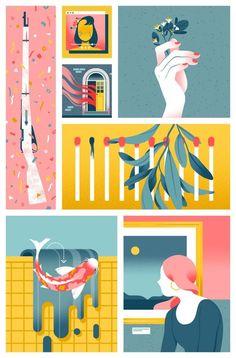 Flat Design Illustration, Illustration Vector, Character Illustration, Vector Art, Magazine Illustration, Illustration Styles, Graphic Design Posters, Graphic Design Inspiration, Guache