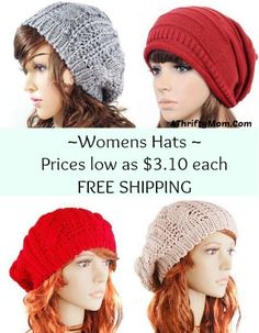 Slouchy hat for women, would make a great gift idea for a tween, teen or Momma