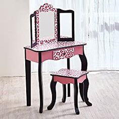 10 Best Little Girls Vanity Table Set Price and Review Girls Vanity Table, Kids Vanity Set, Vanity Set With Mirror, Vanity Ideas, Mirror Mirror, Mirrors, Dressing Table With Drawers, Makeup Dressing Table, Little Girl Vanity
