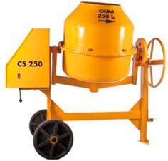 Betoneira CSM 250 litros Motor 1 HP Trifásico