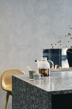 An authentic Natural stone worktop from Norway is the perfect addition to a cosy Scandinavian interior. Scandi Home, Scandinavian Kitchen, Scandinavian Interior, Industrial Interiors, Industrial House, Autumn Interior, Interior And Exterior, Modern Stoves, Winter Dishes