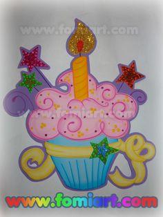 * Pequeños moldes gratuitos sobre un pastelito o quequito para adornar otros letreros o para adornar una fiesta de cumpleaños. * Se requier...