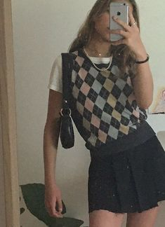 Indie Outfits, Retro Outfits, Cute Casual Outfits, Vintage Outfits, Indie Clothes, Preppy Outfits, Girly Outfits, Winter Outfits, Mode Für Teenies