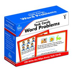 This CenterSOLUTIONS(R) Task Cards: Word Problems kit includes 100 individual math problems for first-grade students. The math problems encourage success in grade-appropriate math basics such as addit