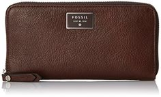 Fossil Dawson Zip Wallet Espresso One Size >>> Continue to the product at the image link.
