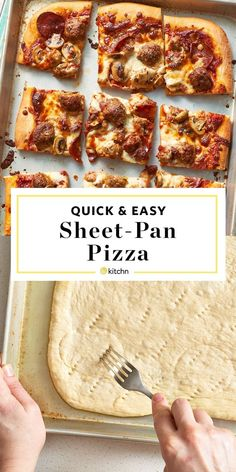 Sheet Pan Pizza Recipe, Sheet Pizza, Pizza Recipes, Cooking Recipes, Easy Recipes, Pan Cooking, Brunch Recipes, Salad Recipes, Dinner Recipes