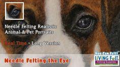 How to Needle Felt Realistic Dog Animal & Pet Portrait PART 1: Needle Fe...