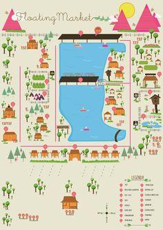Floating Market map -  Lembang - Bandung,   Indonesia