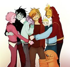 A Family❤ Prince Flame+Finn=Blake Marshall+Prince Gumball=Leo And there's uncle Jake too! Adventure Time Anime, Adventure Time Fanfiction, Marshall Lee Adventure Time, Marshall Lee X Prince Gumball, Abenteuerzeit Mit Finn Und Jake, Adveture Time, Yuri, Cartoon Ships, Flame Princess