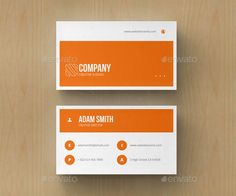 That's a perfect minimal and clean business card with orange color. The template…