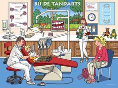 Praatplaat tandarts ivoren kruis, kleuteridee.nl, dental practice for preschool: