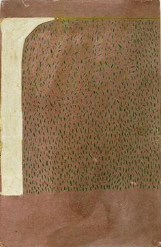David Quinn. acrylic, crayon on paper on mdf. 20x13cm. 2012