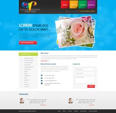 It's the website of a digital retouching studio that offers various services like digital/offset printing, copying, commercial inkjet printing with fast drying, and so on. Hence, the website is made colorful. The website has been designed by the skilled designers of Esolz Technologies Pvt Ltd.