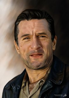 Robert De Niro by Chris Ham, via Behance