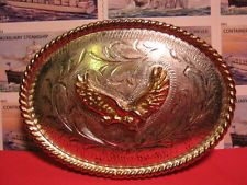 BEAUTIFUL Hand Made SOARING EAGLE Western Belt Buckle Alpaca MAKE AN OFFER $88.00 or Best Offer Free shipping