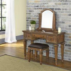Home Styles Americana Vintage Vanity Set with Mirror
