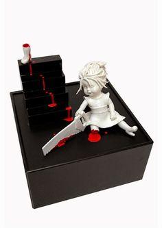 Maria Rubinke macabre porcelain dolls I love this. Art Bizarre, Creepy Art, Creepy Dolls, Weird Art, Surrealism Sculpture, Art Macabre, Surreal Art, Dark Art, Ceramic Art