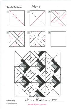 How to draw easy geometry overlay 8 point star pinterest overlay online instructions for drawing czt maria masons zentangle pattern myko ccuart Image collections