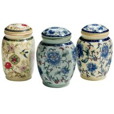 CCCI Flower Charms Tea Canisters : canisters & tins