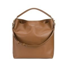 Paul Smith Accessories Hobo Bag - Tan (7.390 HRK) ❤ liked on Polyvore featuring bags, handbags, shoulder bags, brown leather pouch, tan leather shoulder bag, hobo shoulder bag, leather hobo purse and leather handbags