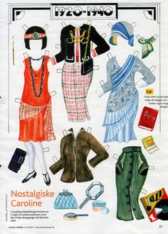Caroline, a Danish paper doll Barbie Paper Dolls, Vintage Paper Dolls, Paper Toys, Paper Crafts, History Of Paper, Printable Paper, How To Make Paper, Print And Cut, Pattern Paper