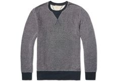 ORGANIC COTTON SWEATSHIRT -  The crewneck sweater is a hardwearing staple in many guys' wardrobes - but Nudie's Sven Sweatshirt gives the garment a fresh spin. The cozy sweatshirt is made from 100% organic loopback cotton jersey, and it stands out with its speckled visual texture and classic yet striking V-stitch detail.   from End