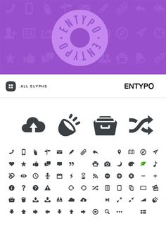 List of free vector icon glyphs and icon webfont resources for interfaces and Responsive Design