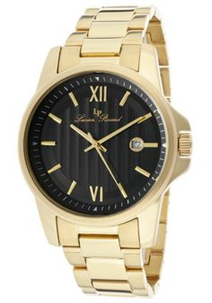 Lucien Piccard Men's Breithorn Black Dial Gold Tone Ion Plated Stainless SteelLucien Piccard 10048-YG-11 Watch