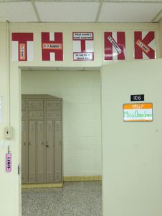 My version of the THINK anti-bullying poster. Bullying Posters, Anti Bullying, School Counselor, Art Classroom, Counseling, Locker Storage, Homeschool, Organization, Teaching