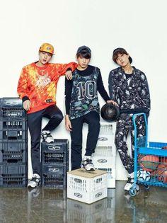 Jin, Jung Kook and J-Hope