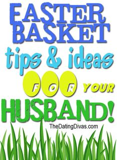 Yep, Easter isn't just for kids!  Here are some fun ideas you can do for your husband!  I'm lovin' the guy-themed basket ideas they have. www.TheDatingDivas.com #easter #husband #forhim