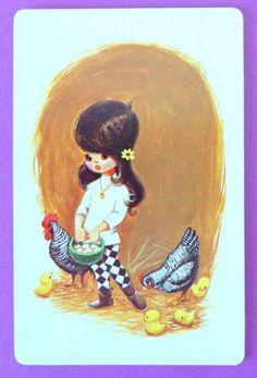 VINTAGE SWAP CARD.  STARDUST 1970s.