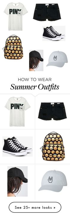 """Collection Of Summer Styles    """"Back to school outfit"""" by fashionqueen743 on Polyvore featuring Victoria's Secret, Frame Denim and Converse    - #Outfits  https://fashioninspire.net/fashion/outfits/summer-outfits-back-to-school-outfit-by-fashionqueen743-on-polyvore-featuring-victorias/"""