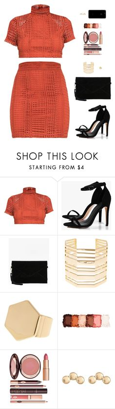 """""""Sin título #4498"""" by mdmsb ❤ liked on Polyvore featuring Boohoo, Louise et Cie, 14th & Union, NYX, Charlotte Tilbury and Melrose & Market"""