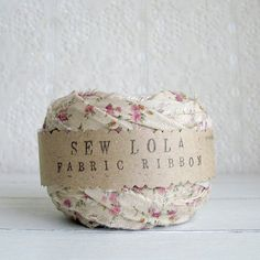 fabric ribbon romantic cottage last one por sewlola en Etsy