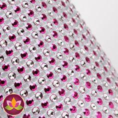 Pink Polka Dot Glam Ribbon Cake Wraps