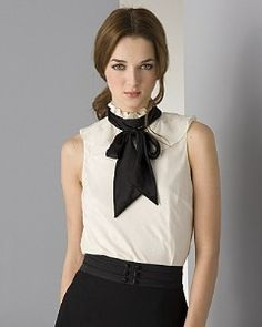 """Tibi Women's"""" Daisy"""" Jacquard High Neck Bow Blouse review at Kaboodle"""