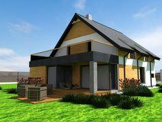 Projekt elewacji domku v2