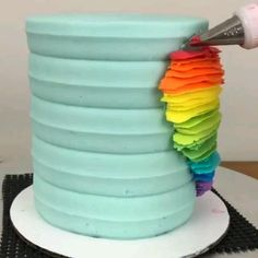 Buttercream Cake Decorating, Cake Decorating Designs, Creative Cake Decorating, Cake Decorating Techniques, Cake Decorating Tutorials, Cake Designs, Rodjendanske Torte, Cute Birthday Cakes, Crazy Cakes