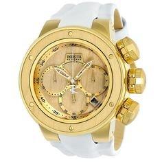 Invicta Men's Reserve Chronograph 8371D Quartz Watch, 52mm ($399) ❤ liked on Polyvore featuring men's fashion, men's jewelry, men's watches, unknown, invicta mens watches, mens wide band watches, mens chronograph watch and mens leather strap watches