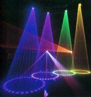 Lichteffecten, Bepaalde effecten met licht (Bijv. disco effect met disco lichten).