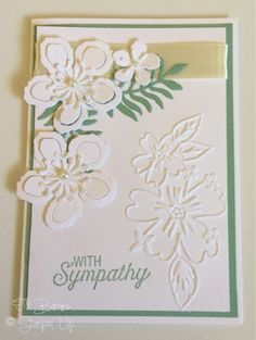 With Sympathy White Card