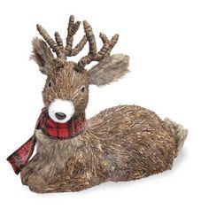 Loon Peak Pleasant View Lying Down Deer With Scarf Figurine