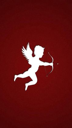 Simple The Love Arrow Of Cupid Outline Art iPhone Wallpapers