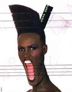 Born in Jamaica, Grace Jones ( Grace Mendoza) started as a Model before becoming an Actress and Singer. Description from electronic80s.blogspot.co.uk. I searched for this on bing.com/images
