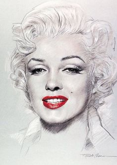 Good drawing of MM. Zeichnung Marilyn Monroe, Marilyn Monroe Kunst, Marilyn Monroe Drawing, Marilyn Monroe Artwork, Marilyn Monroe Life, La Reproduction, Photographie Portrait Inspiration, Cult, Celebrity Portraits