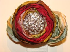 AMAZING hand dyed silk hand rolled rosettes (sold)
