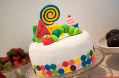 Raupe Nimmersatt Torte The very hungry caterpillar cake