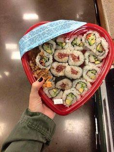 Sushi Heart Box.